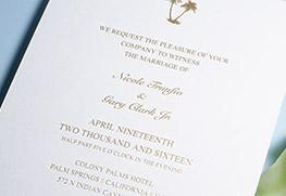 Foil Wedding Invitation Printing