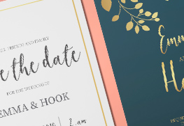 Foil Stamp Save The Dates