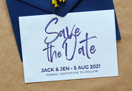 Letterpress Save the Date Cards