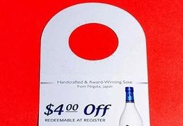 Bottle Neck custom hang tags