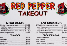 take out menu (red pepper)