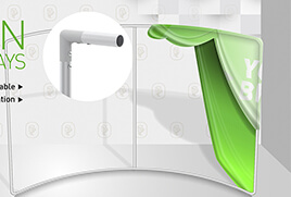 Curved Tension Fabric Display Sizes
