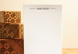 Custom Letterpress Note Cards