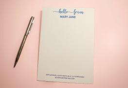 Letterpressed Note Cards