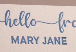 Letterpress Note Card Printing