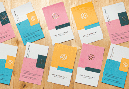 Custom Raised Digital Foil Business Cards