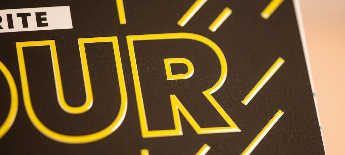 Custom Raised Spot UV Postcards