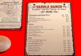 Menus (Saddle Ranch)