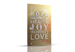 2 Color Gold Foil Holiday Card