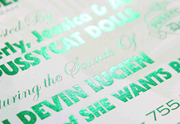 Green foil invitations