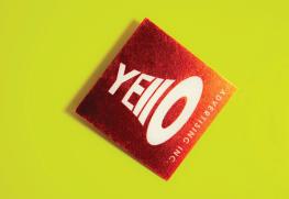 Foil stamp square business cards