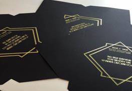 Digital Gold Foil on Black Cover