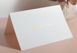 Custom Foil Stamp Greeting Cards Printing