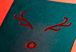Red Foil Greeting Cards