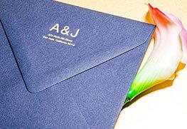 Foil Stamp Env - Gold AJ