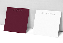 Emboss Note Cards
