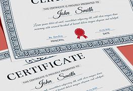Certificates B