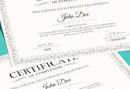 Certificates A