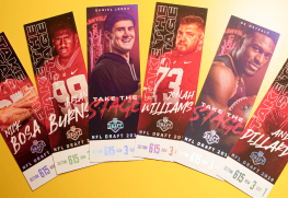 foil stamp event tickets
