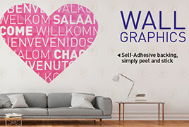 Wall graphic decals for any event